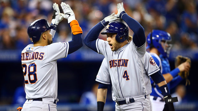 Springer HR, 4 RBIs as Astros beat Blue Jays 7-4