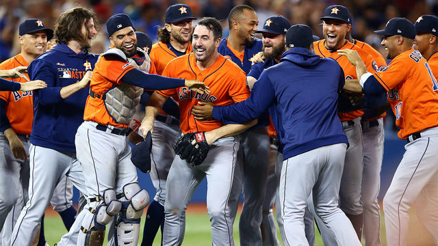 Verlander pitches 3rd career no-hitter, Astros beat Jays 2-0