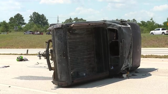 Driver killed, woman injured in rollover crash on Grand Parkway