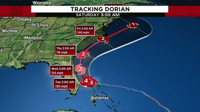 Record-setting Hurricane Dorian continues pounding north Bahamas