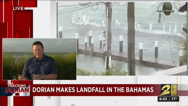 Dorian makes landfall in the Bahamas
