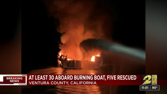 Officials: Some deaths, 34 missing in California boat fire