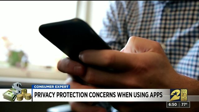 Privacy protection concerns when using apps