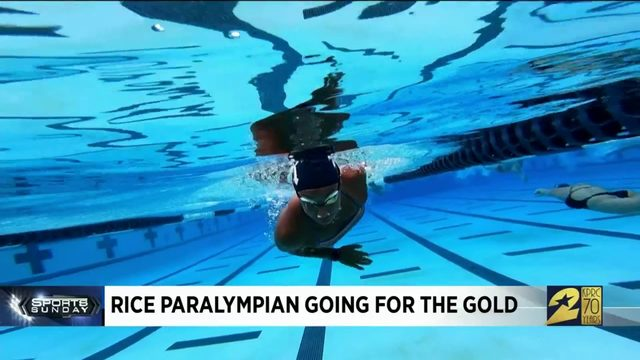 Rice paralympian going for the gold