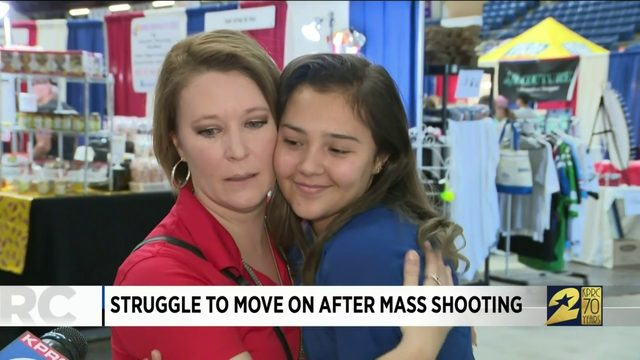 Struggle to move on after mass shooting