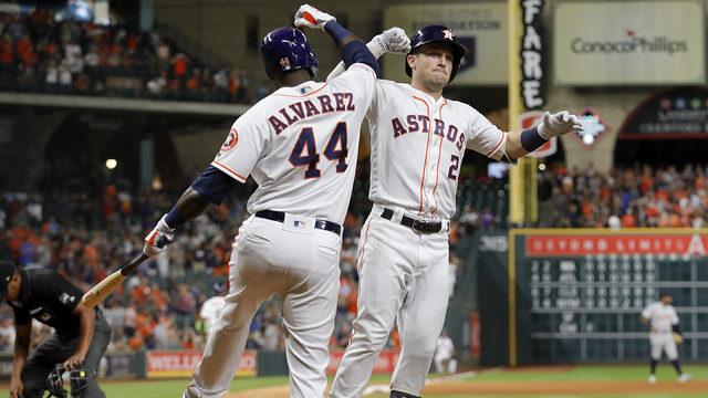 Bregman, Alvarez earn MLB's monthly awards for August performances