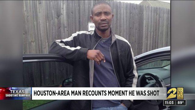 Houston-area man recounts moment he was shot