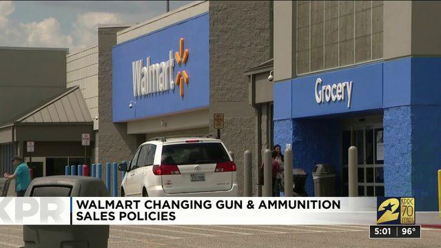 Walmart changing gun and ammunition sales policies