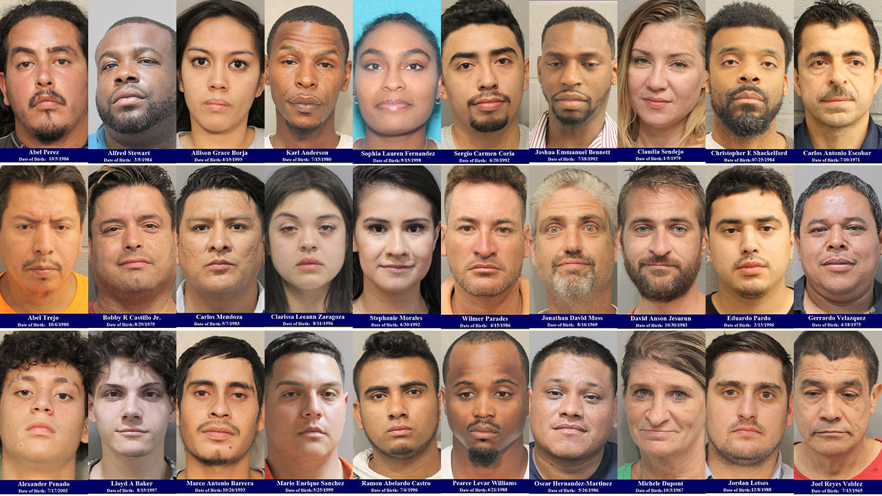 MUGSHOTS: 30 people arrested in one area of Harris County