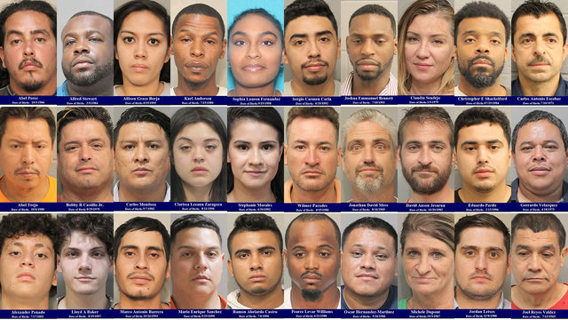 MUGSHOTS: 30 people arrested in one area of Harris County over Labor Day weekend