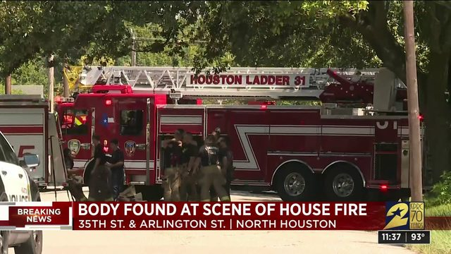 1 person found shot to death at scene of house fire, firefighters say