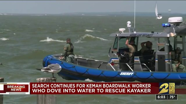 Search continues for Kemah Boardwalk employee who jumped in water to…