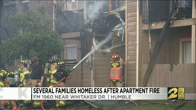 Several families homeless after apartment fire