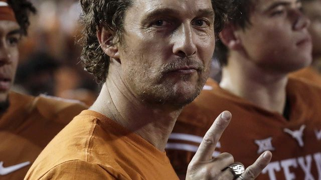 All right: Matthew McConaughey to be guest picker on ESPN ahead of Texas…