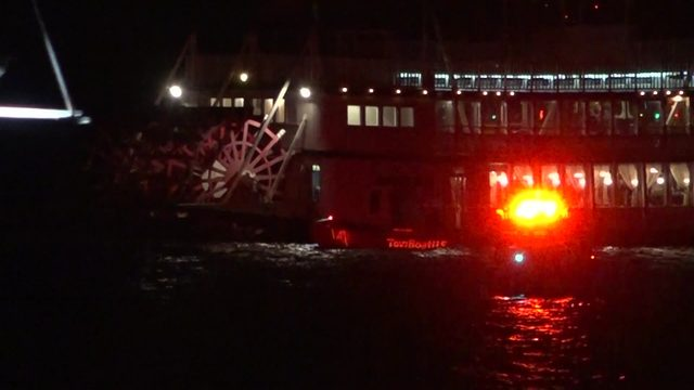Over 80 rescued after Lake Conroe paddle wheel boat runs aground