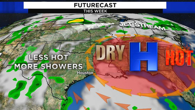 Scattered storms and less heat for Houston to start the week