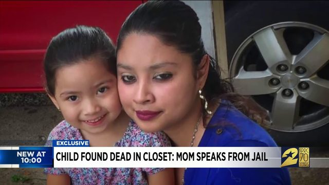 Child found dead in closet: Mom speaks from jail
