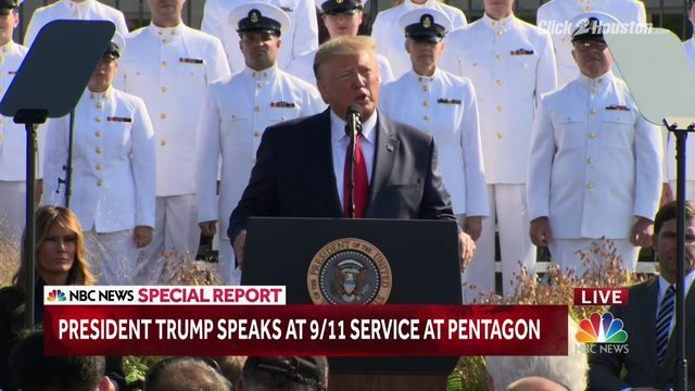 President Trump marks 9/11 anniversary at Pentagon