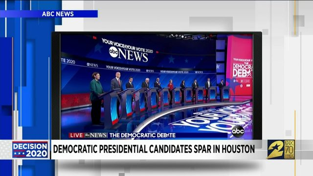 Democratic presidential candidates spar in Houston