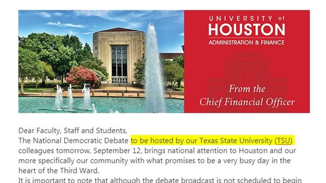 Texas State or Texas Southern? UH, ABC mix up TSU's name ahead of DNC debate
