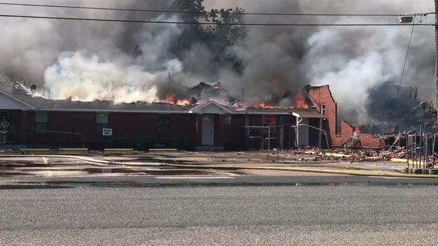 LIVESTREAM: SKY 2 over scene of Texas City church fire