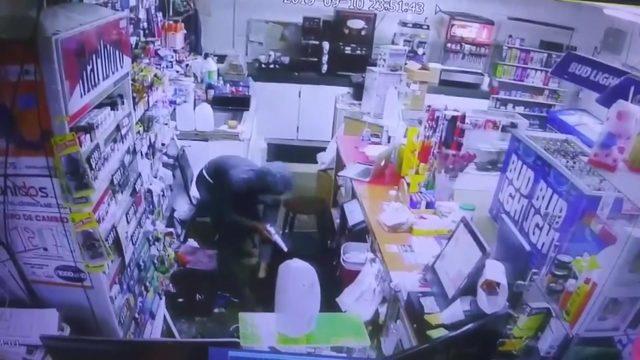 Surveillance cameras capture armed robbery at Pasadena convenience store
