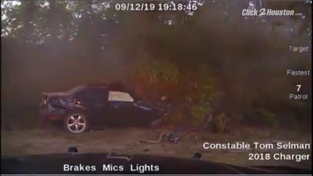 VIDEO: Vehicle takes down power lines after fatally crashing into wooded…