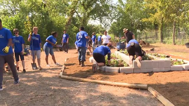 Local veterans help build park in East End District in remembrance of 9/11