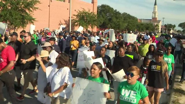 Protesters demand release of Donald Neely's arrest video in Galveston
