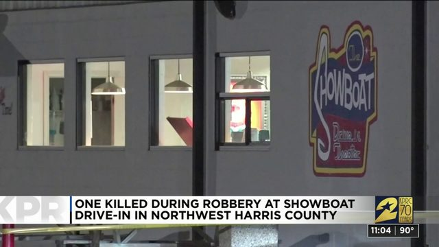 1 killed during robbery at Showboat Drive-in
