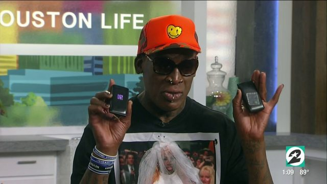 Here's why Dennis Rodman carries a flip phone... 5 of them | HOUSTON…