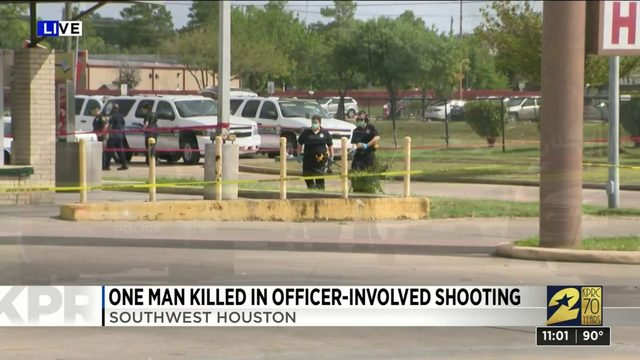 One man killed in officer-involved shooting