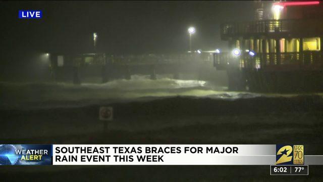 Coastal areas prep for heavy rain