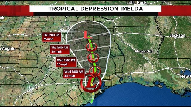 Tropical Depression Imelda makes way through SE Texas; flash flood watch…