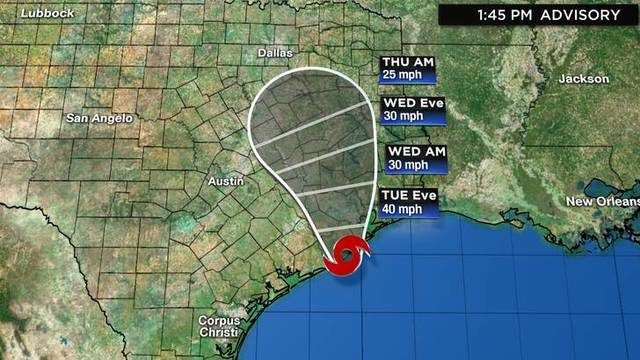 Tropical Storm Imelda forms off Texas coast; flash flood watch issued