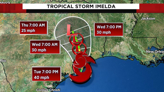 Tropical Storm Imelda makes landfall near Freeport; flash flood watch issued