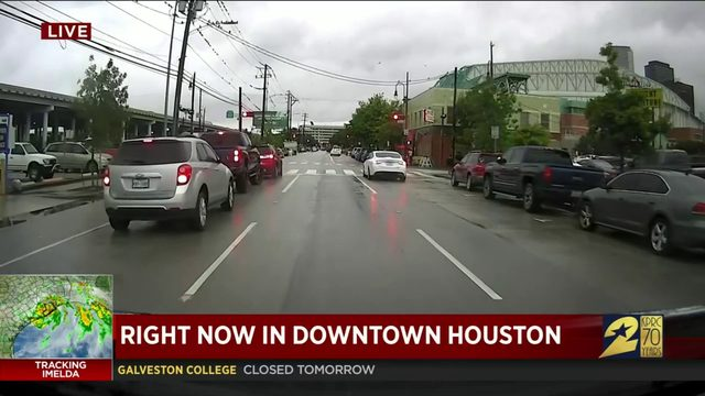 Tracking Tropical Storm Imelda: How things look in downtown Houston