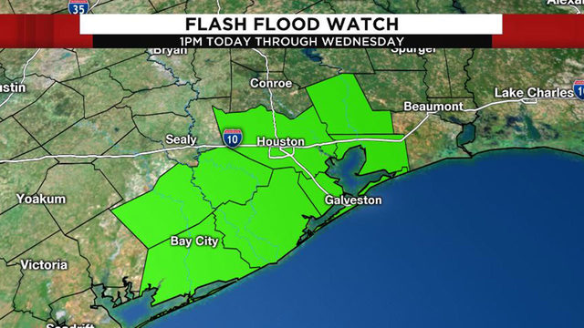 Flash flood watch issued for Houston area ahead of incoming storms, heavy rain