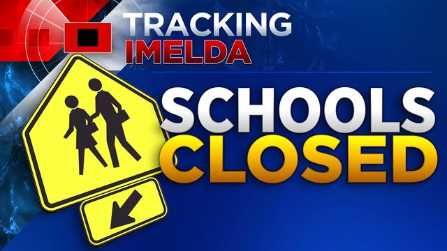 List of school closings, cancellations due to Tropical Depression Imelda