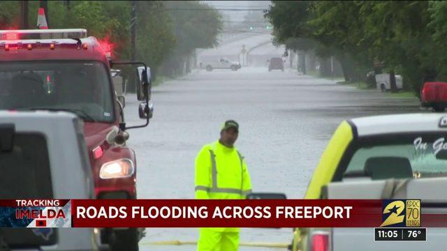 TRACKING IMELDA: Flooded roads across Freeport