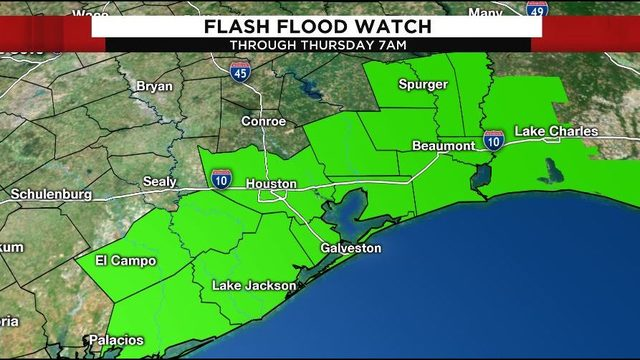 Flash flood watch extended as Imelda makes way through SE Texas