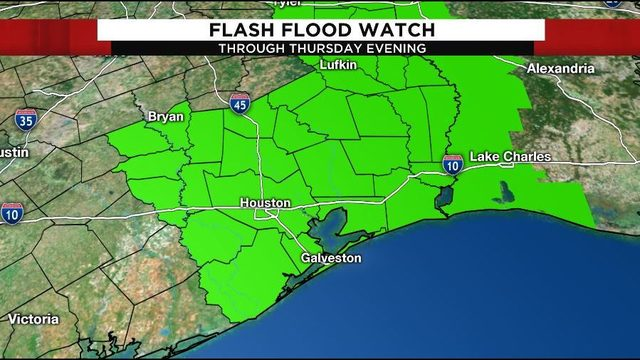 Flash flood watch continues as Imelda slowly moves north across SE Texas