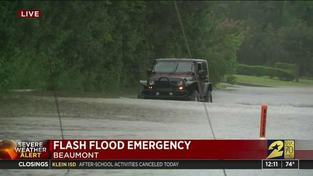 Flooding in Beaumont