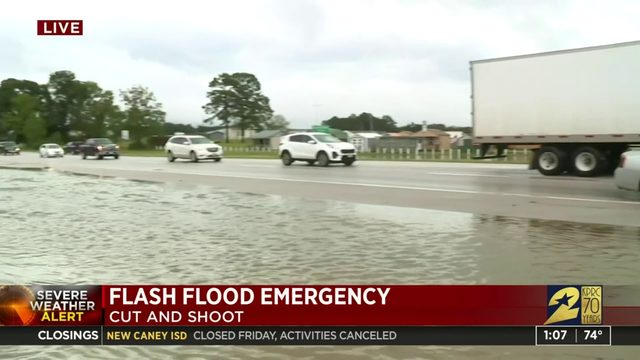 Flooding in Cut and Shoot