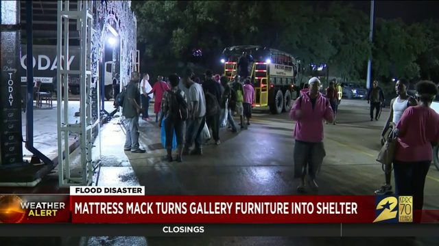 Mattress Mack turns Gallery Furniture into shelter