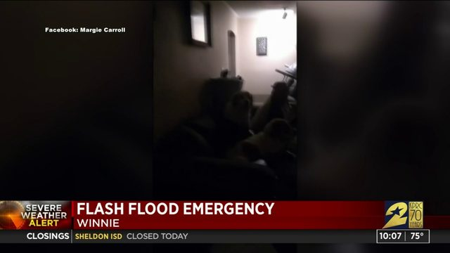 One woman is facing a total loss after flood waters entered her home