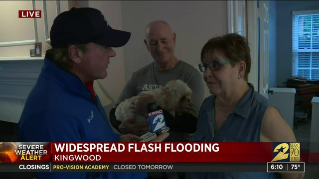 Widespread flash flooding in Kingwood due to Imelda