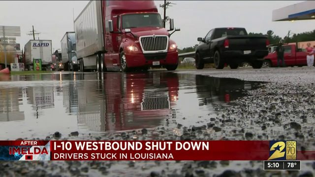 I 10 westbound shut down