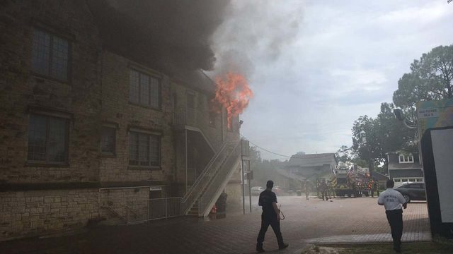 LIVE: Fire at Heights church
