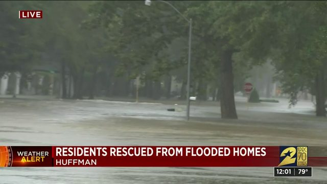 Residents rescued from flooded homes